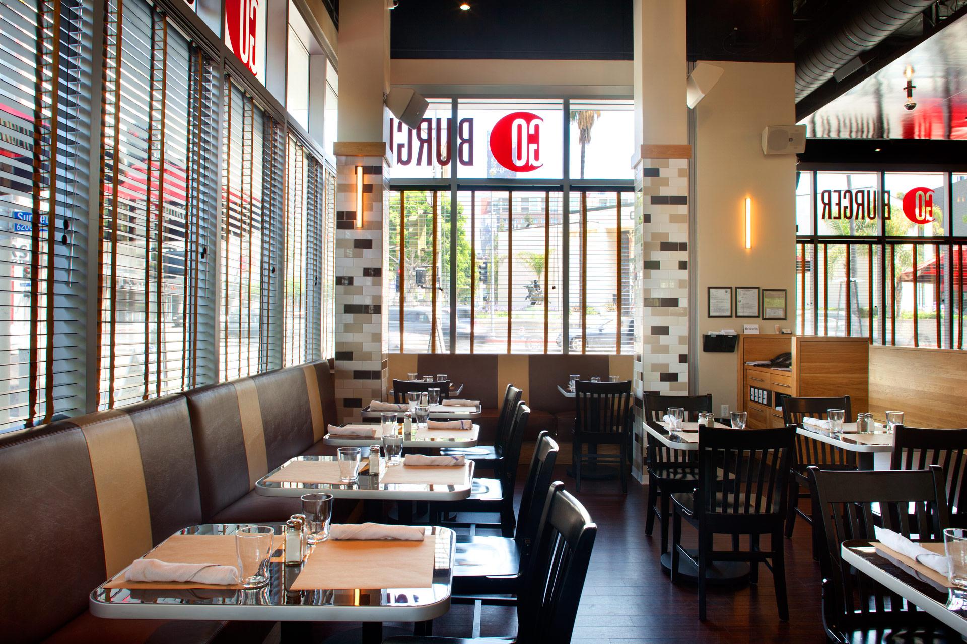 Go Burger LA restaurant bet designer