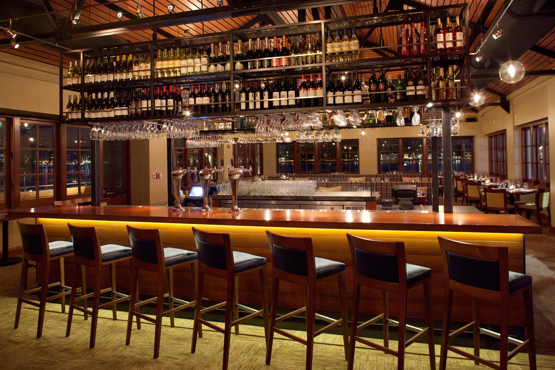 Lake Chalet restaurant interiors