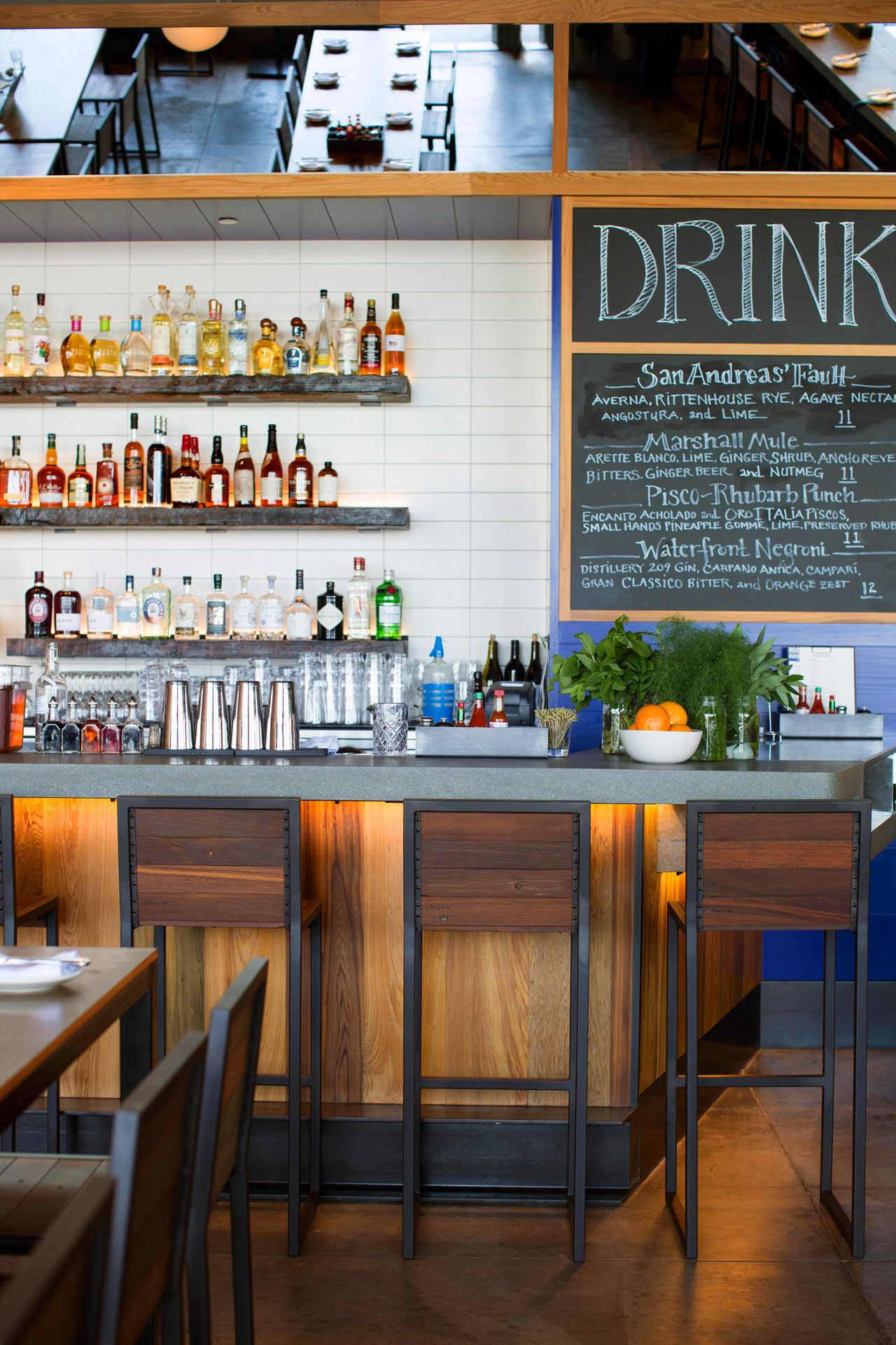 Hog Island Oyster Co. restaurant interior design