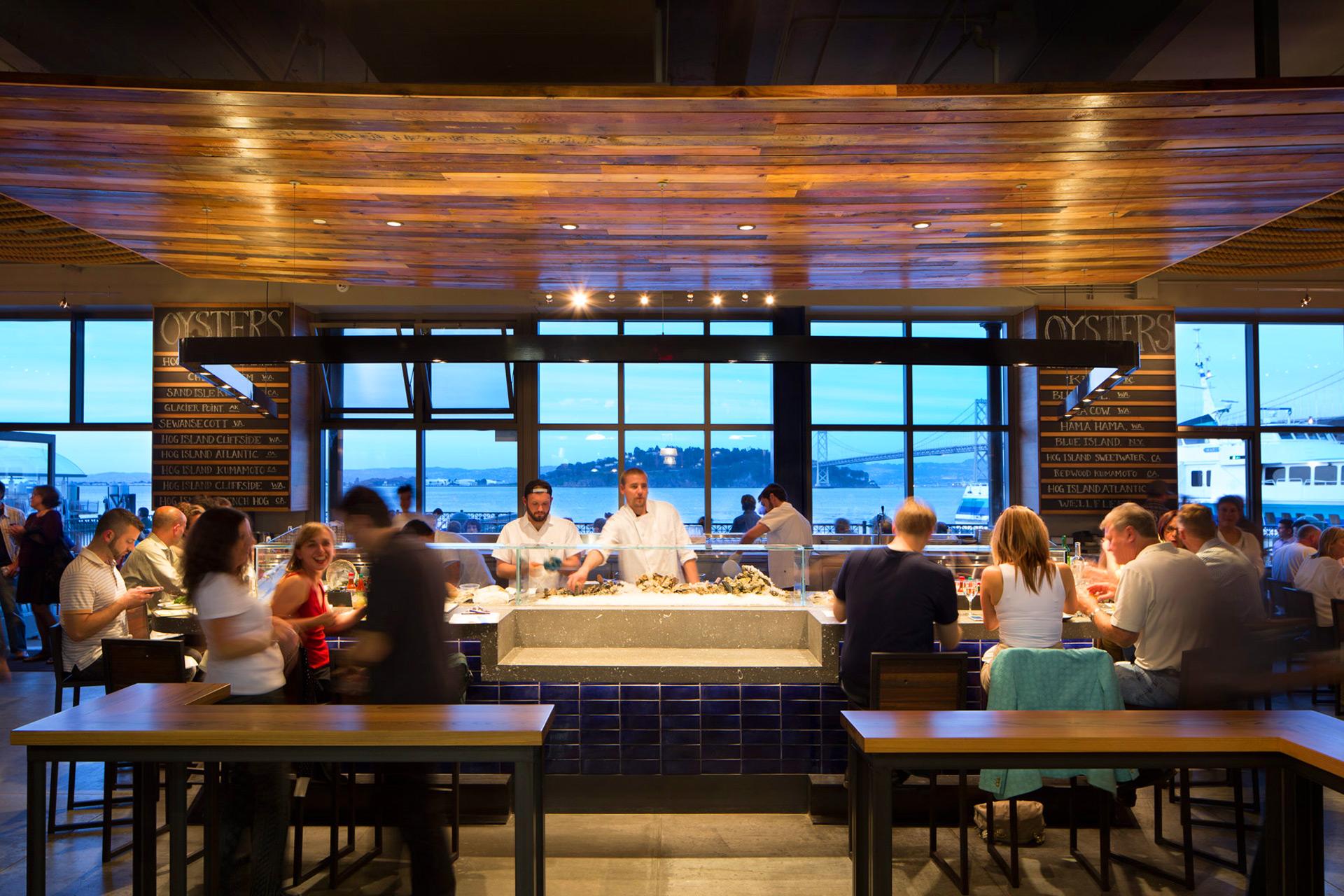Hog Island Oyster Co. restaurant interiors