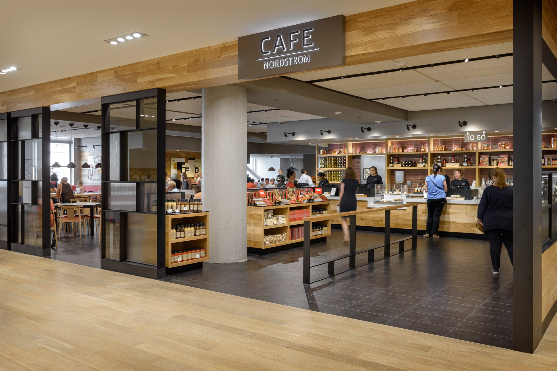 Cafe + Habitant at Nordstrom restaurant designer