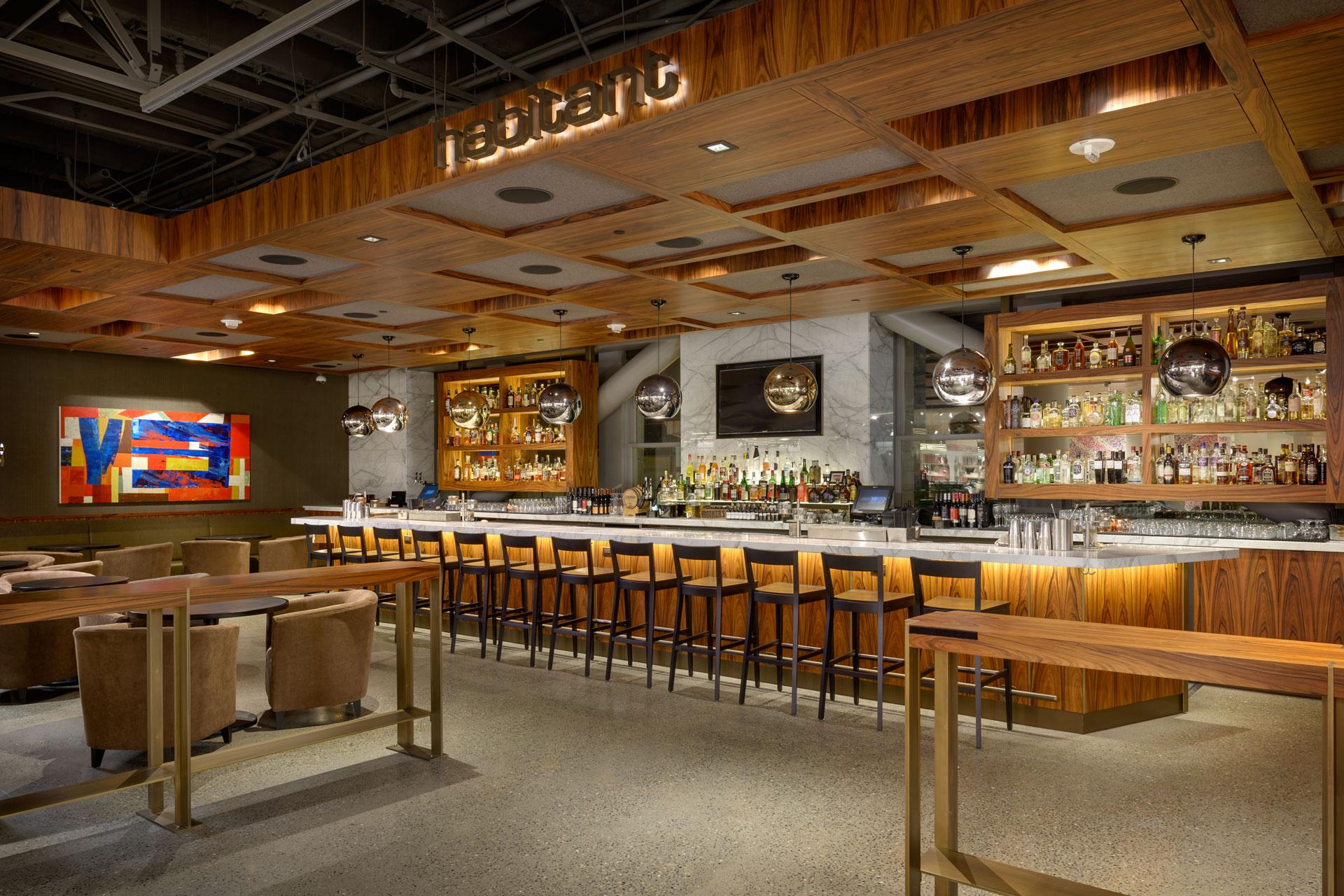 Cafe + Habitant at Nordstrom restaurant modern design