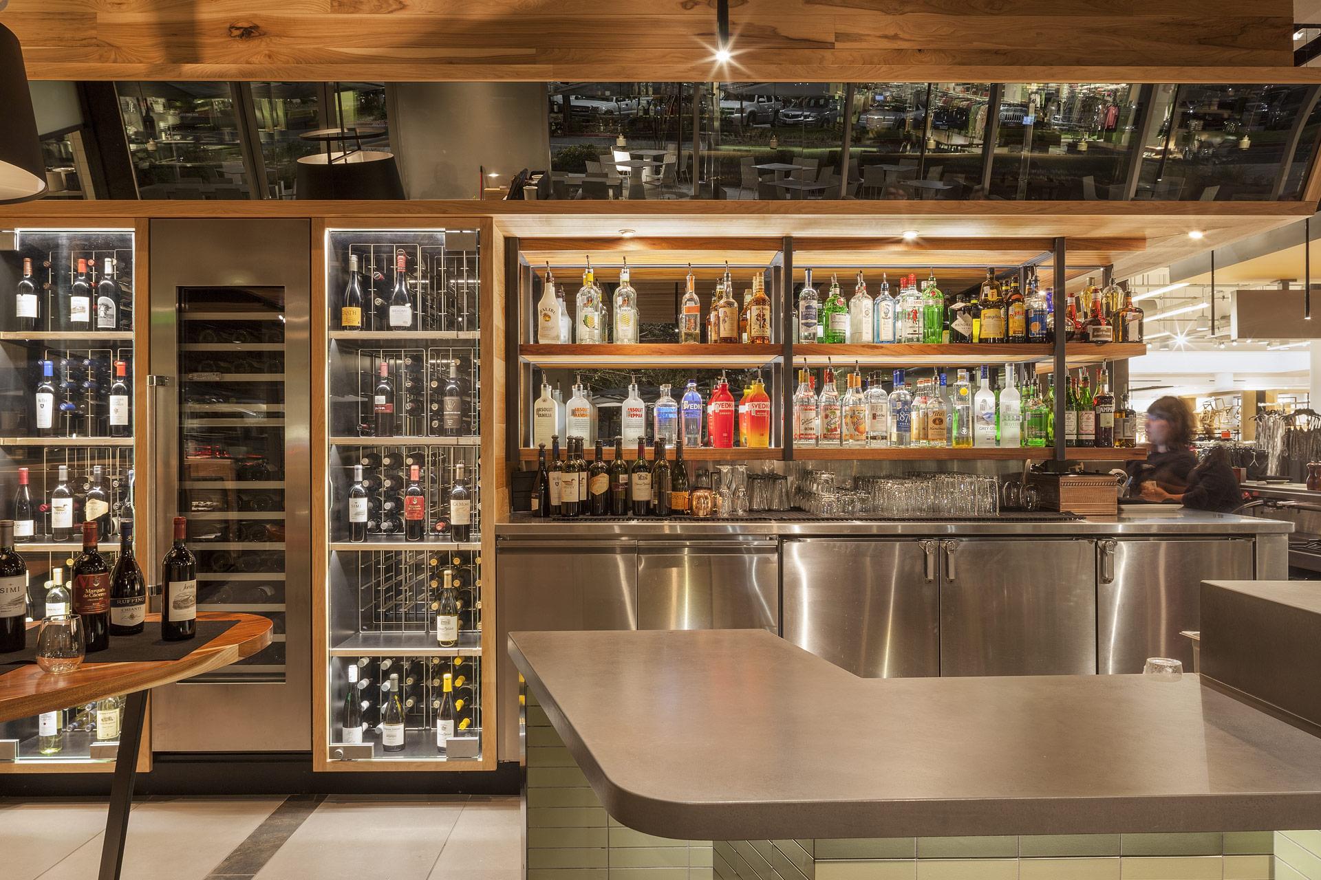 Bazille at Nordstrom Restaurant interiors