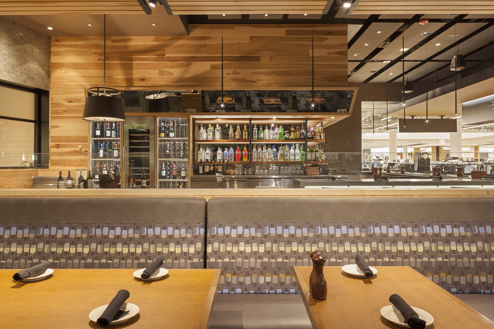 Bazille at Nordstrom Restaurant interiors designs