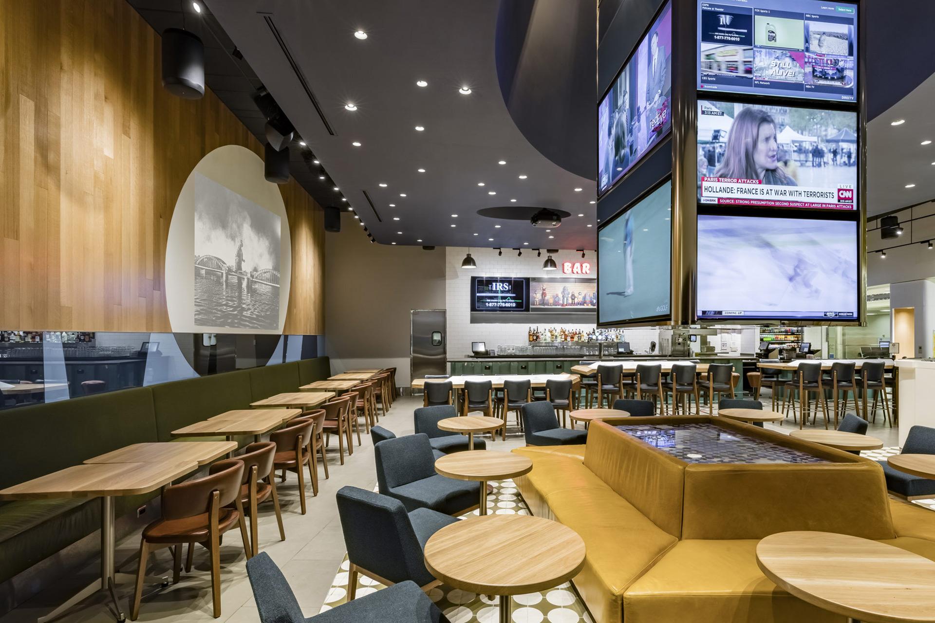 Foodcourt at ATL restaurant luxury design