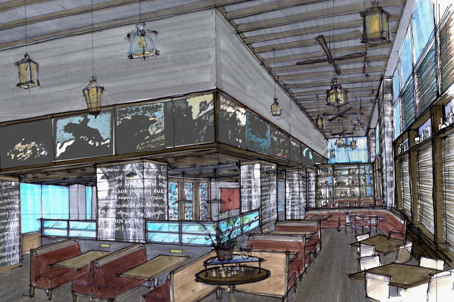 BLT Bar & Grill restaurant decor ideas