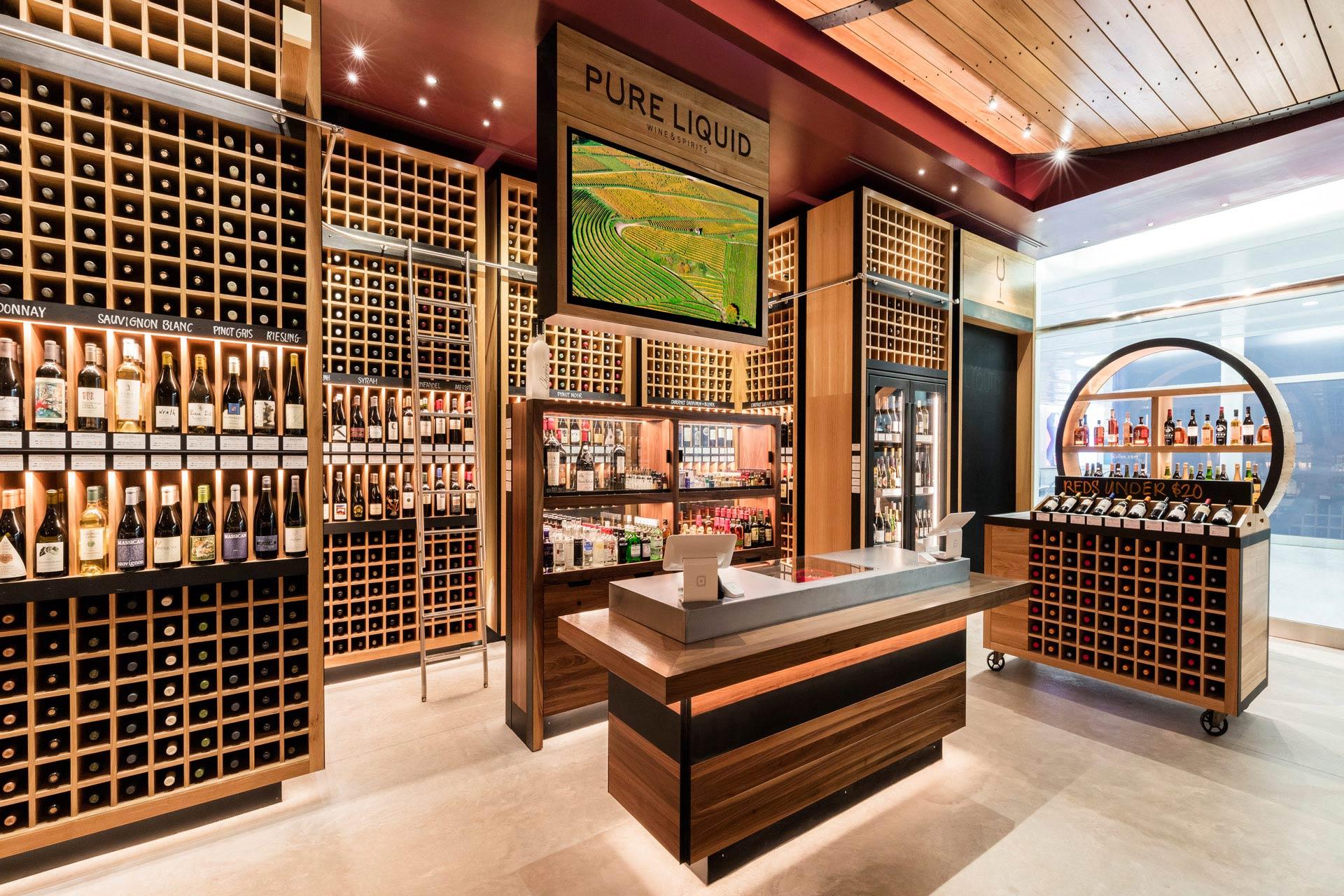 Pure Liquid Wine & Spirits retail store best design