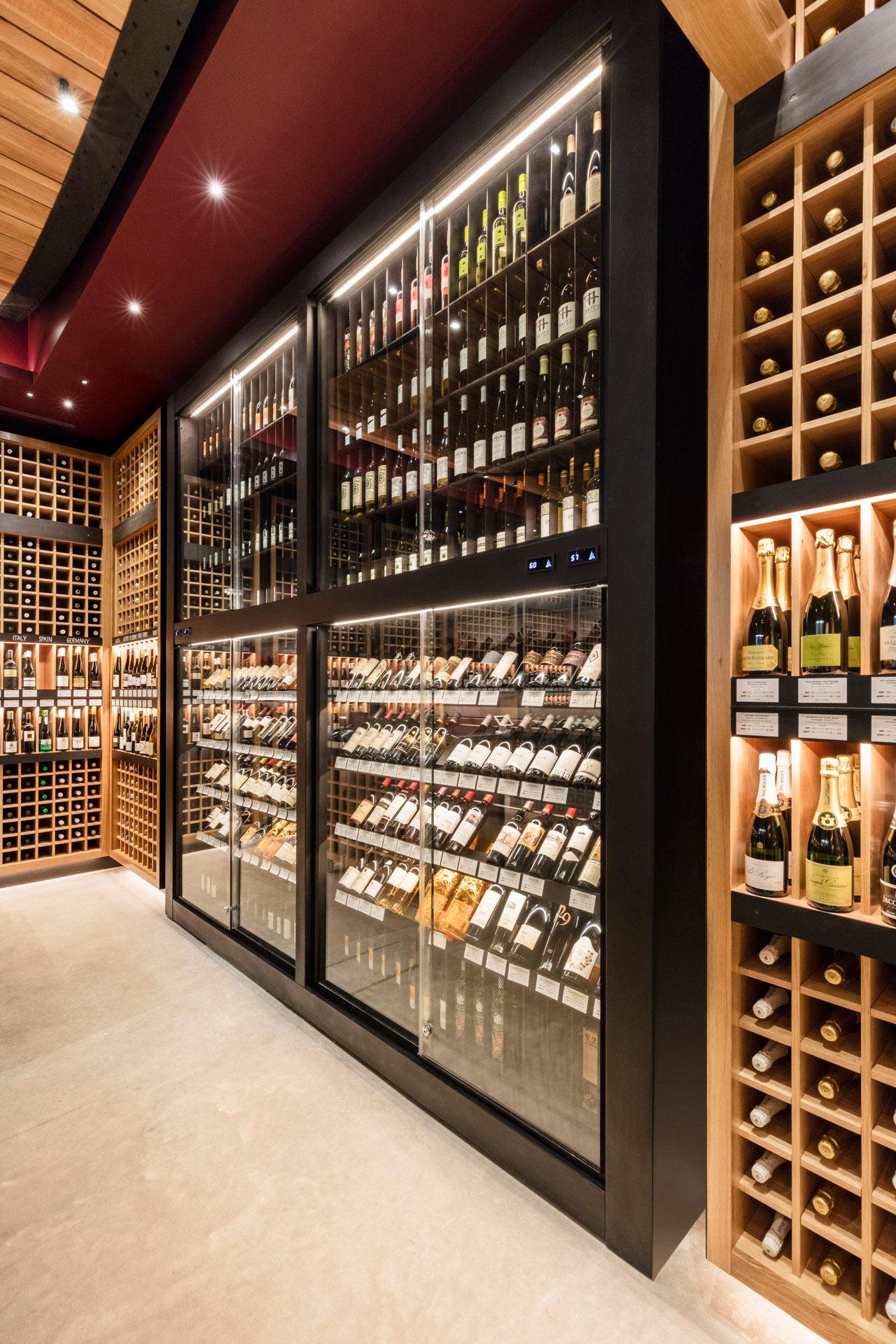 Pure Liquid Wine & Spirits retail store interiors
