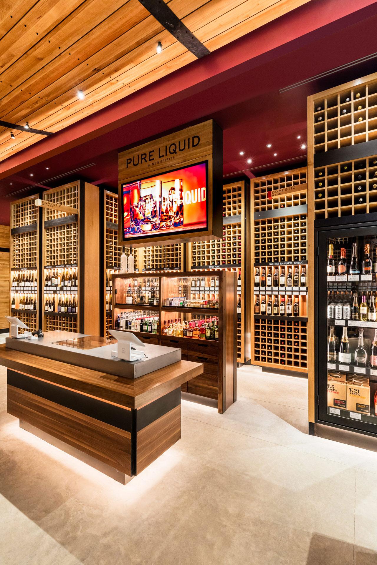 Pure Liquid Wine & Spirits retail store home decor