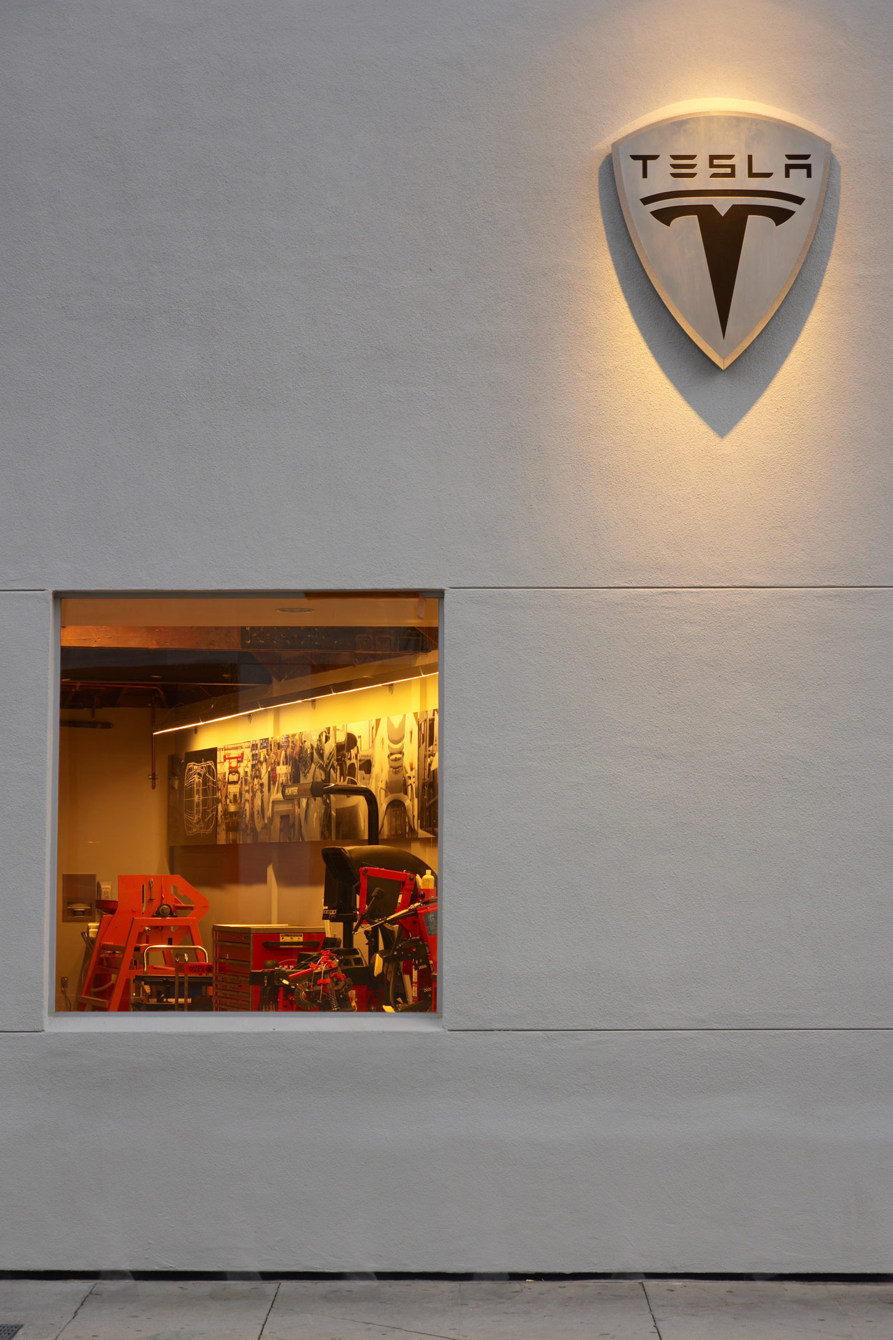 Tesla Showroom retail store design