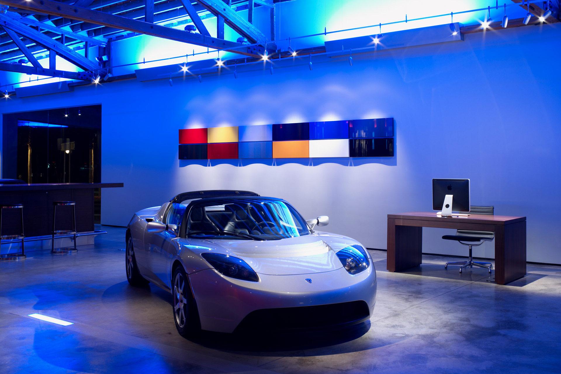Tesla Showroom retail store interior designer