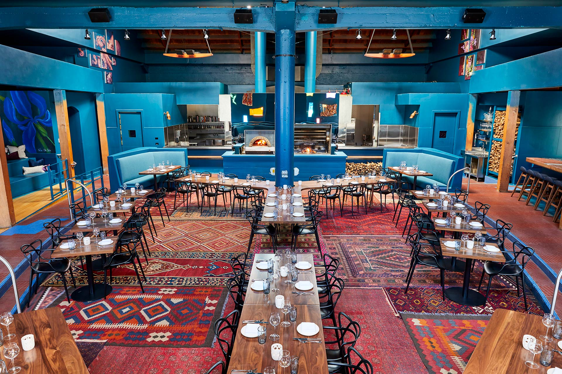 Palette Folsom restaurant interiors