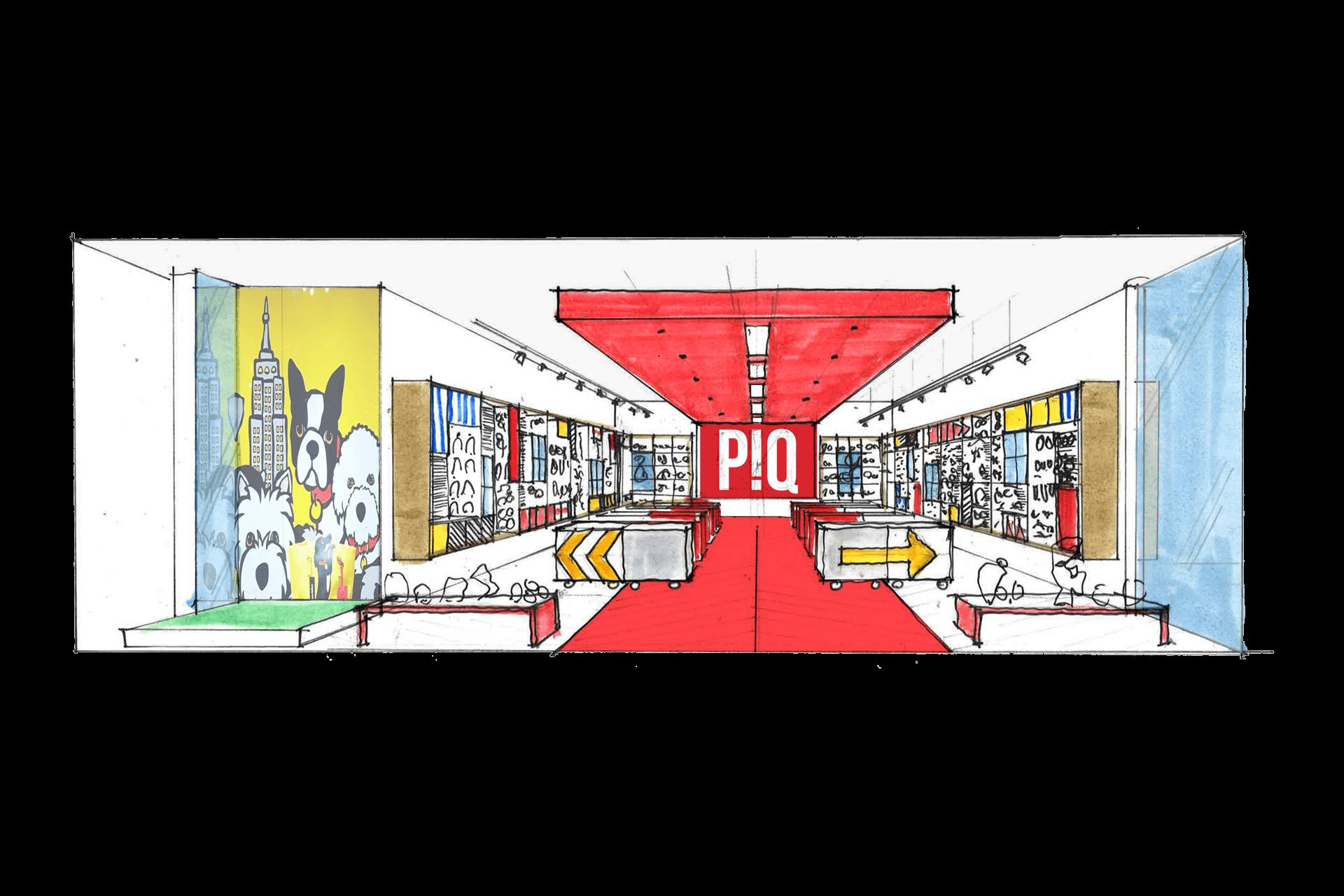 PiQ Hudson Yards retail store best designer