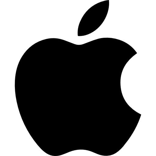 Apple mac black logo