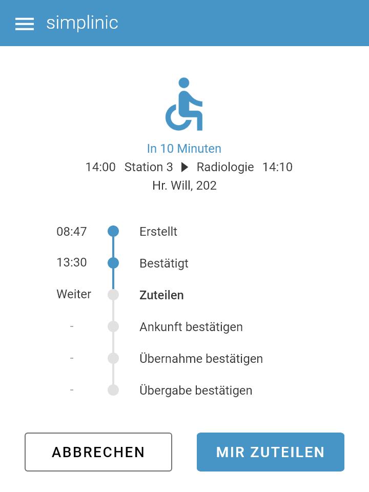 Software Screenshot Reinigungsübersicht