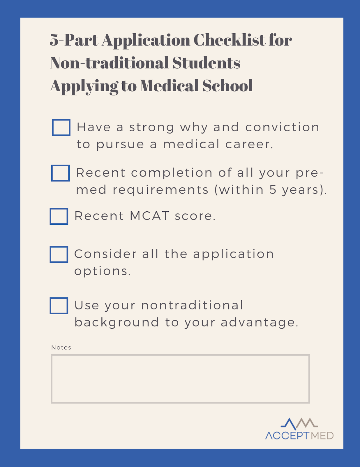 non-traditional medical school application tips