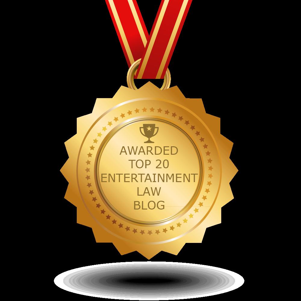 gold medal, top 20 entertainment blog, law blog