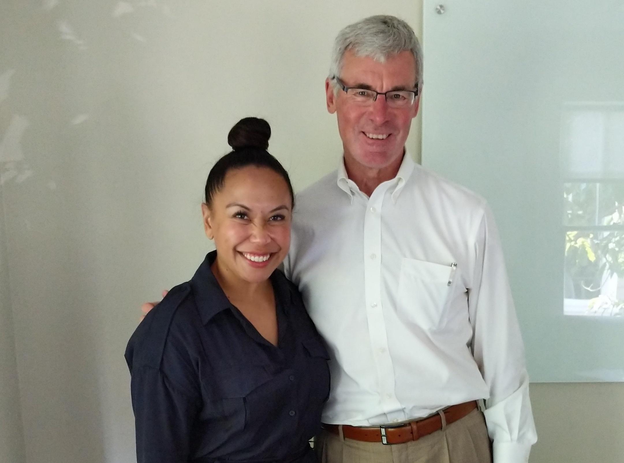 Evegail Andal and Jon Pfeiffer