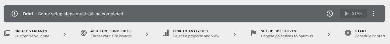 Google Optimize list of accounts