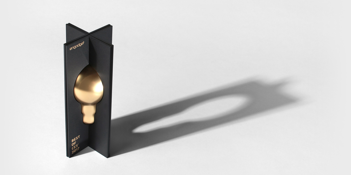 Engadget 'Best of CES' Trophy designed by Box Clever