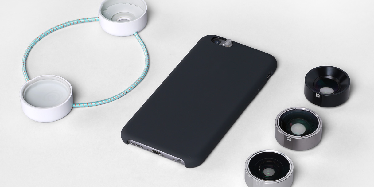 Photojojo Iris Phone Lenses designed by Box Clever