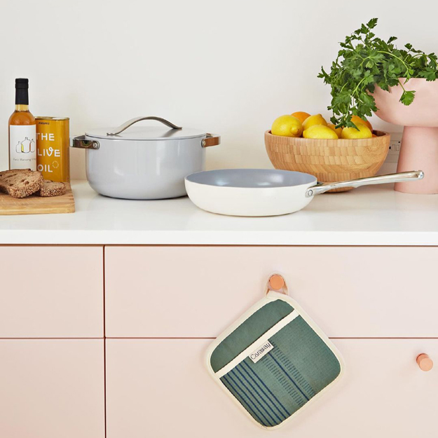 Caraway Cookware in the kitchen