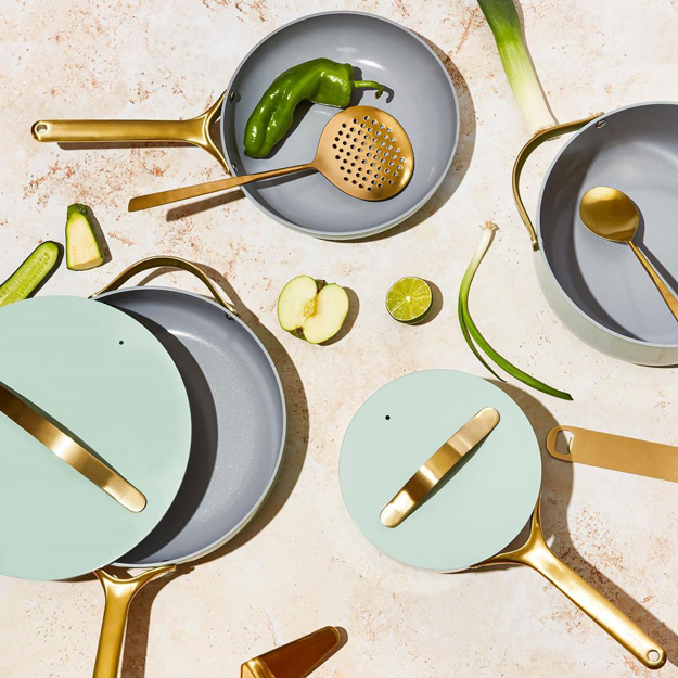 Caraway Cookware on a dinner table