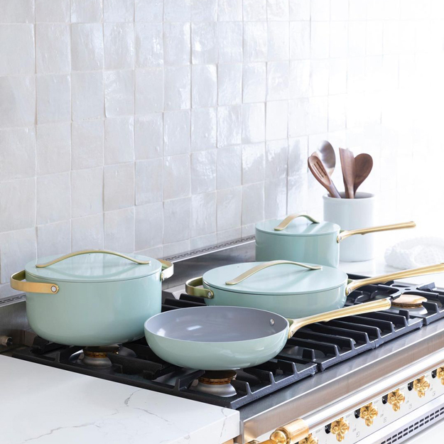 Caraway Cookware on a stove