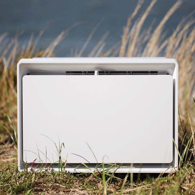 July Air Conditioner in a field