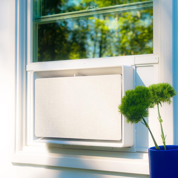 July Air Conditioner in a window