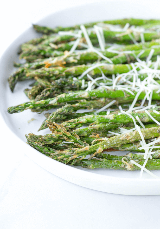 Air Fryer Garlic Parmesan Asparagus | Simply Made Recipes