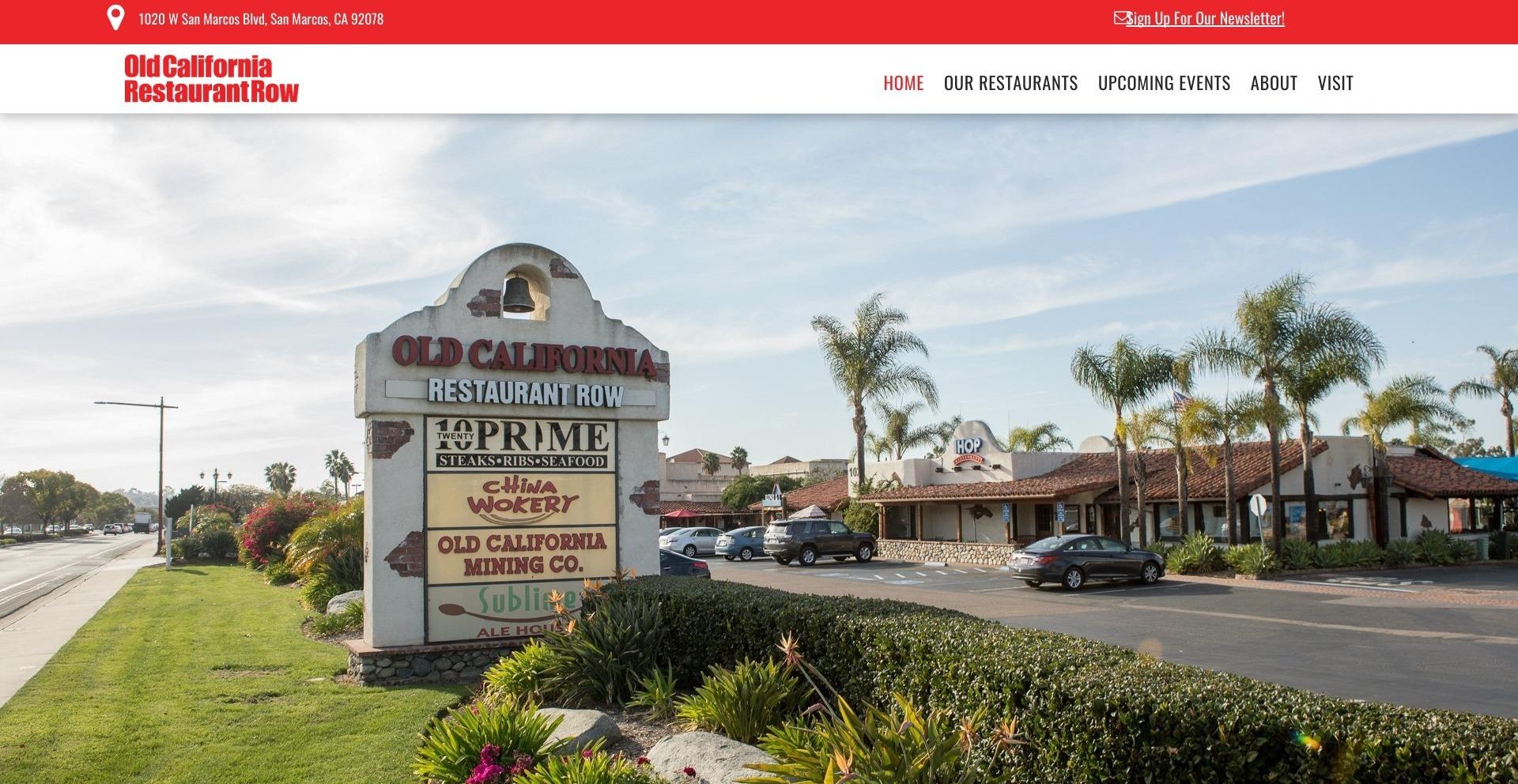 Old California Restaurant Row