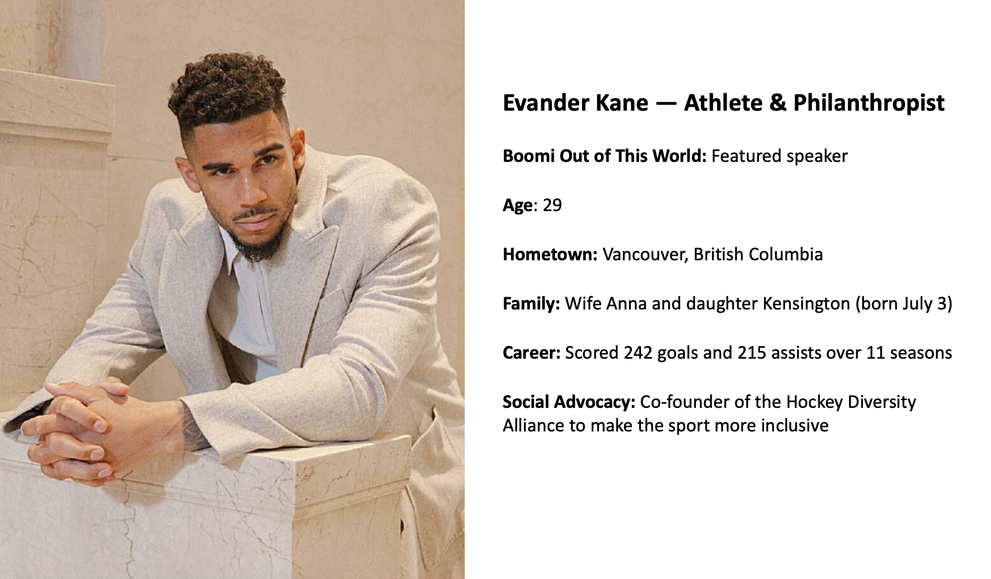 NHL Star Evander Kane Talks With Boomi About His Passion for Technology, Diversity, and Inclusion