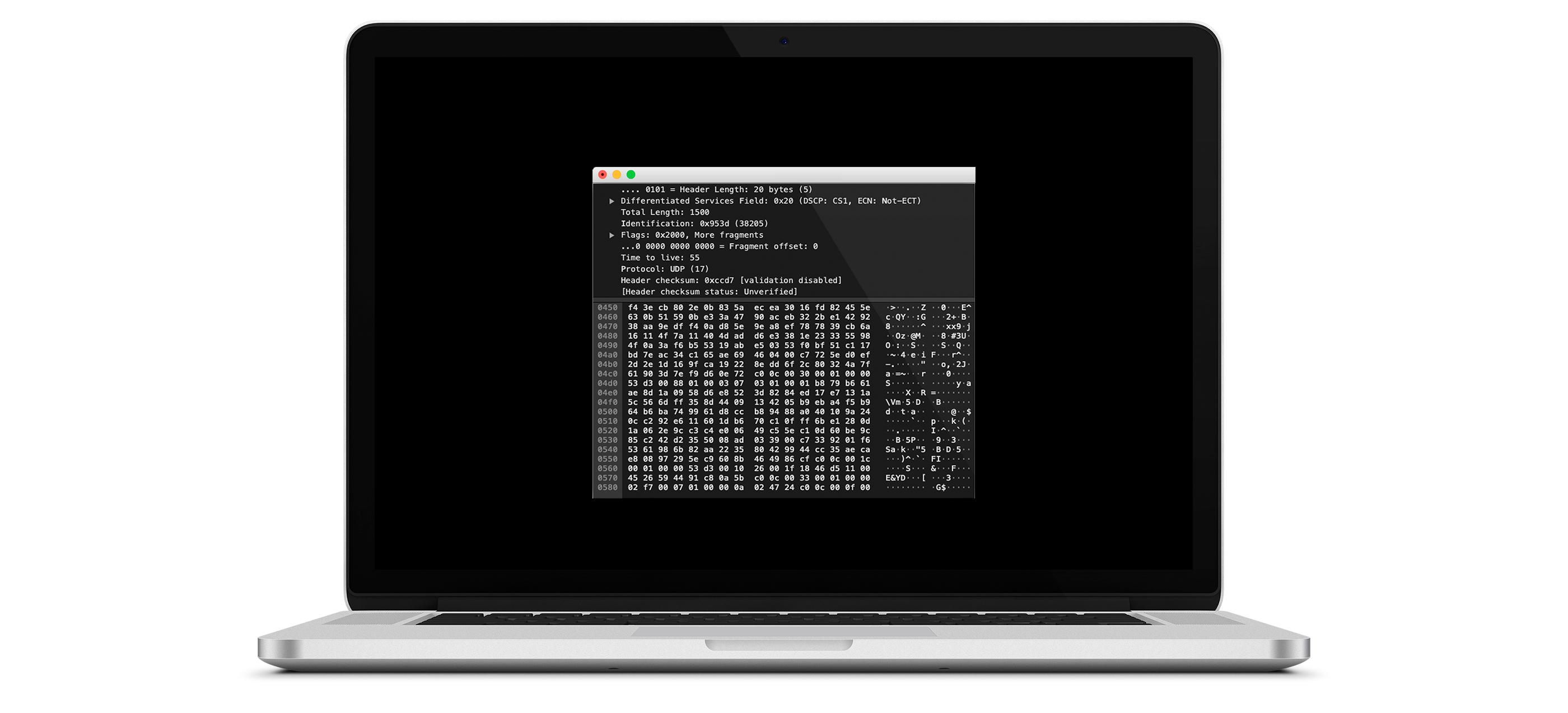 Notebook com a analise de pacotes da solução anti-ddos da UPX