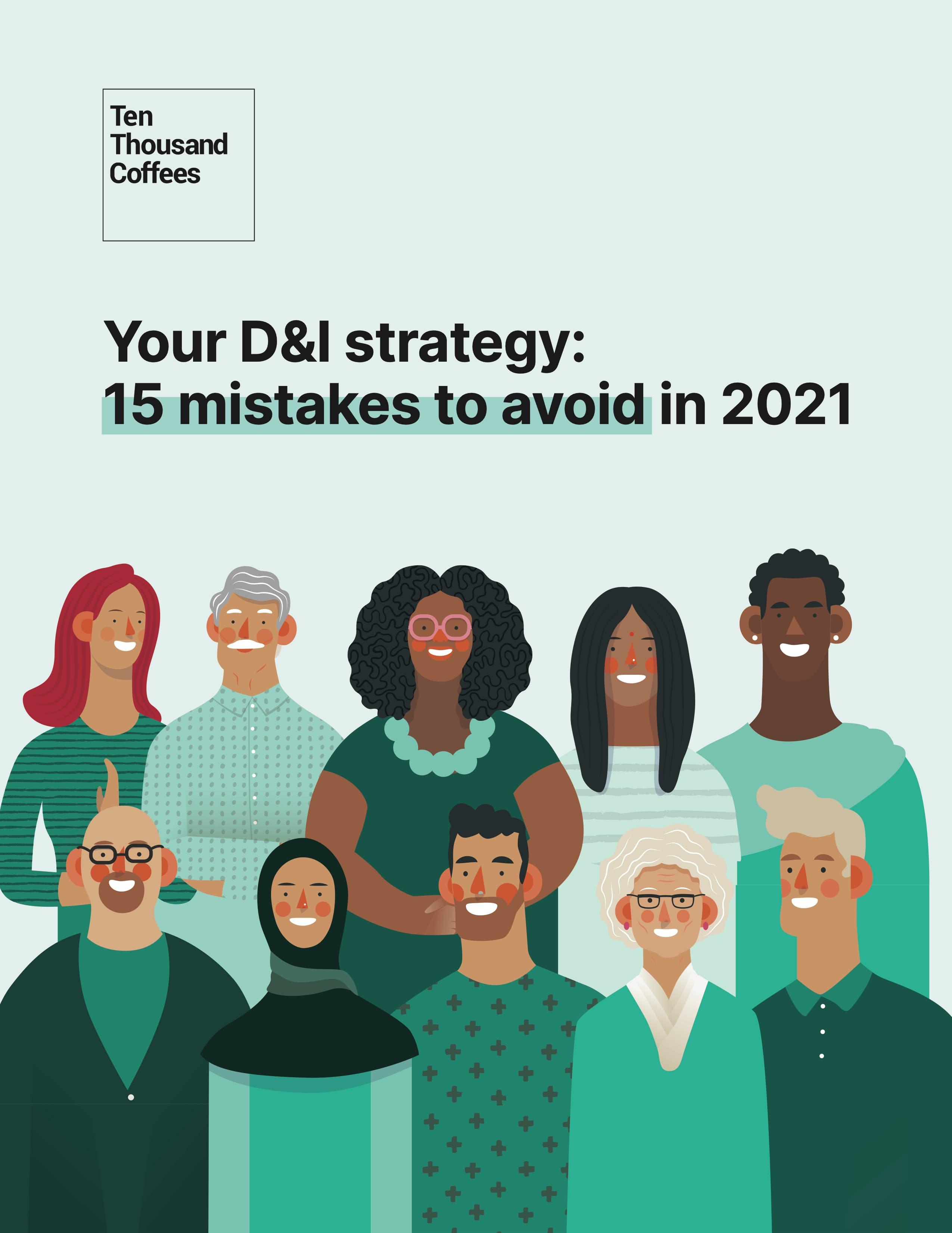 "Ebook cover for ""Your D&I Strategy: 15 mistakes to avoid in 2021"""