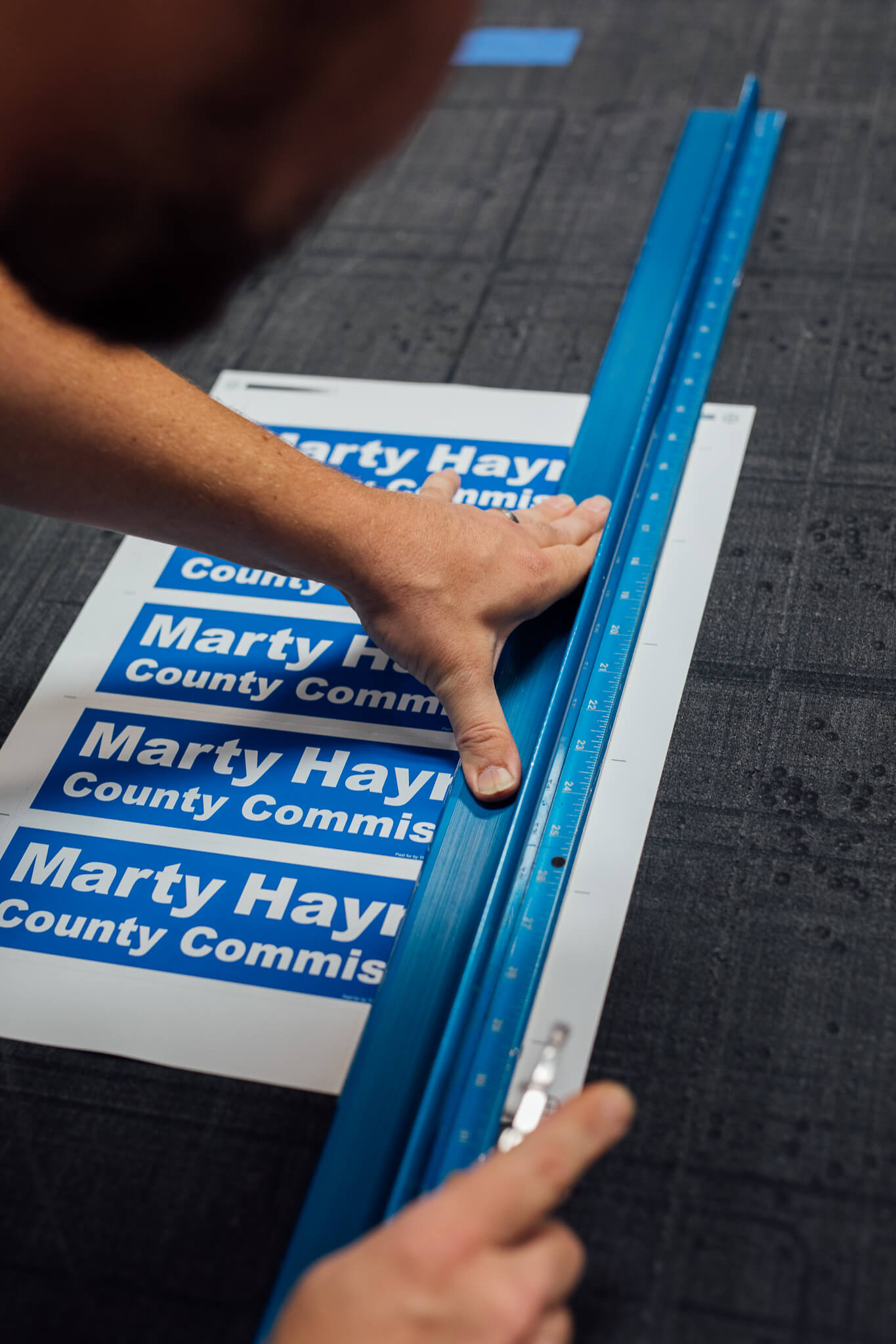 Political vinyl decals for Marty Haynes County Commissioner