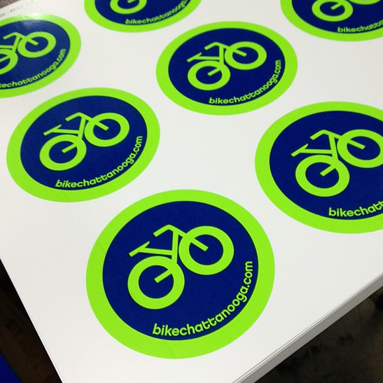 Vinyl decals for Bike Chattanooga