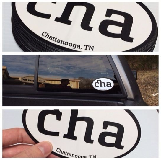 Vinyl die cut CHA bumper sticker
