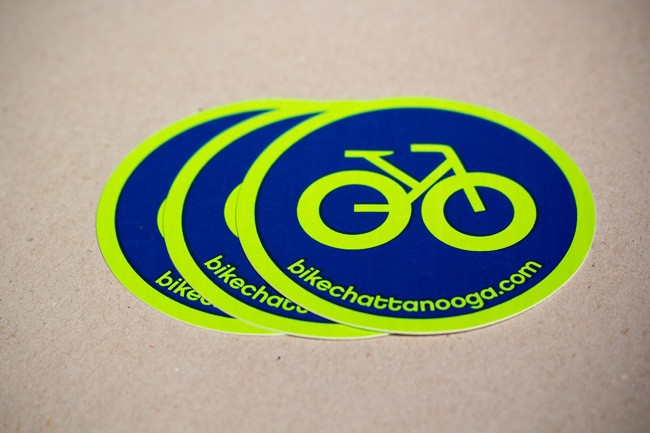 A vinyl decal printed fro Bike Chattanooga