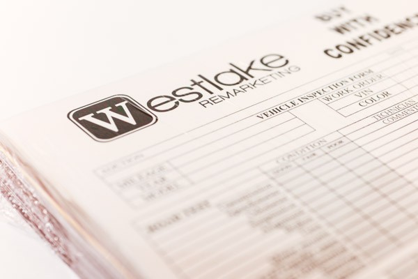 Close-up of westlake remarketing form
