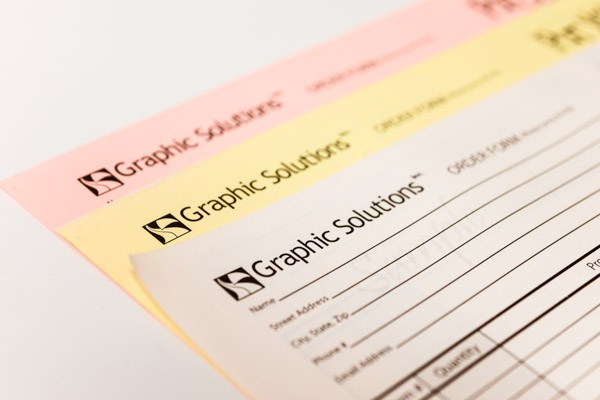 Close up of graphic solutions order forms