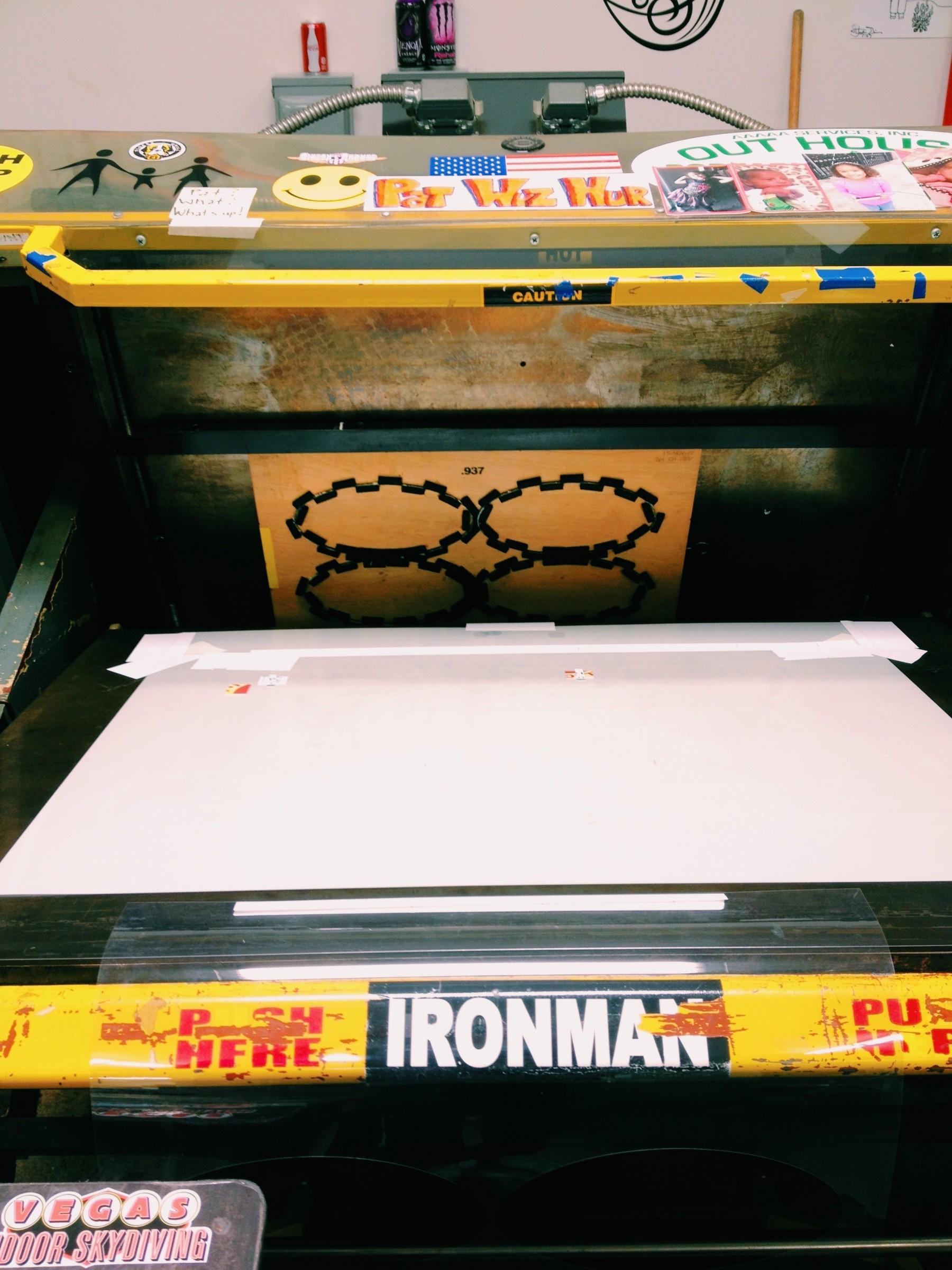A steel rule decal printer