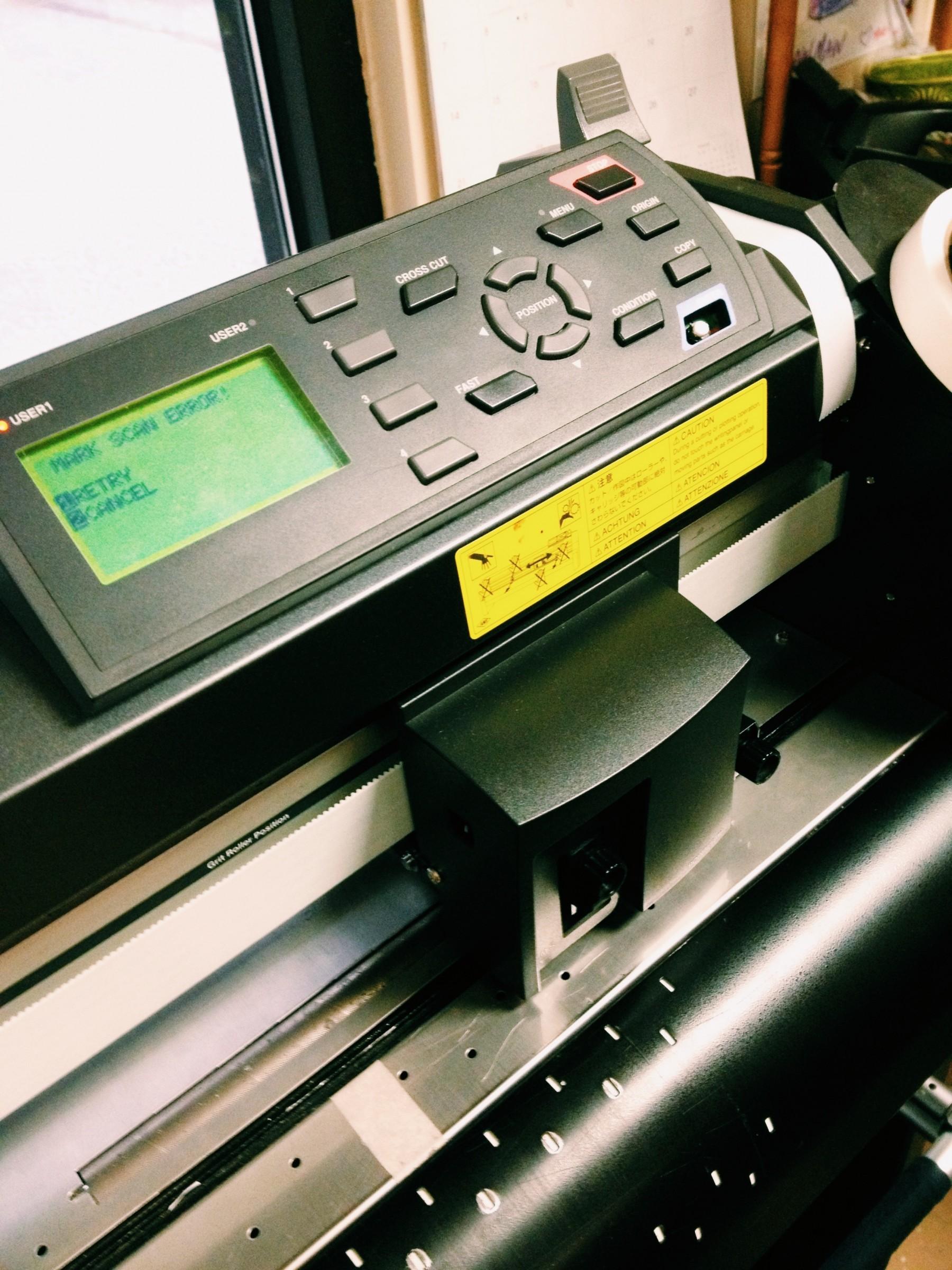 Digital die cut printer
