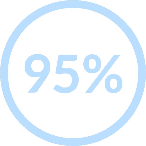 95% icon