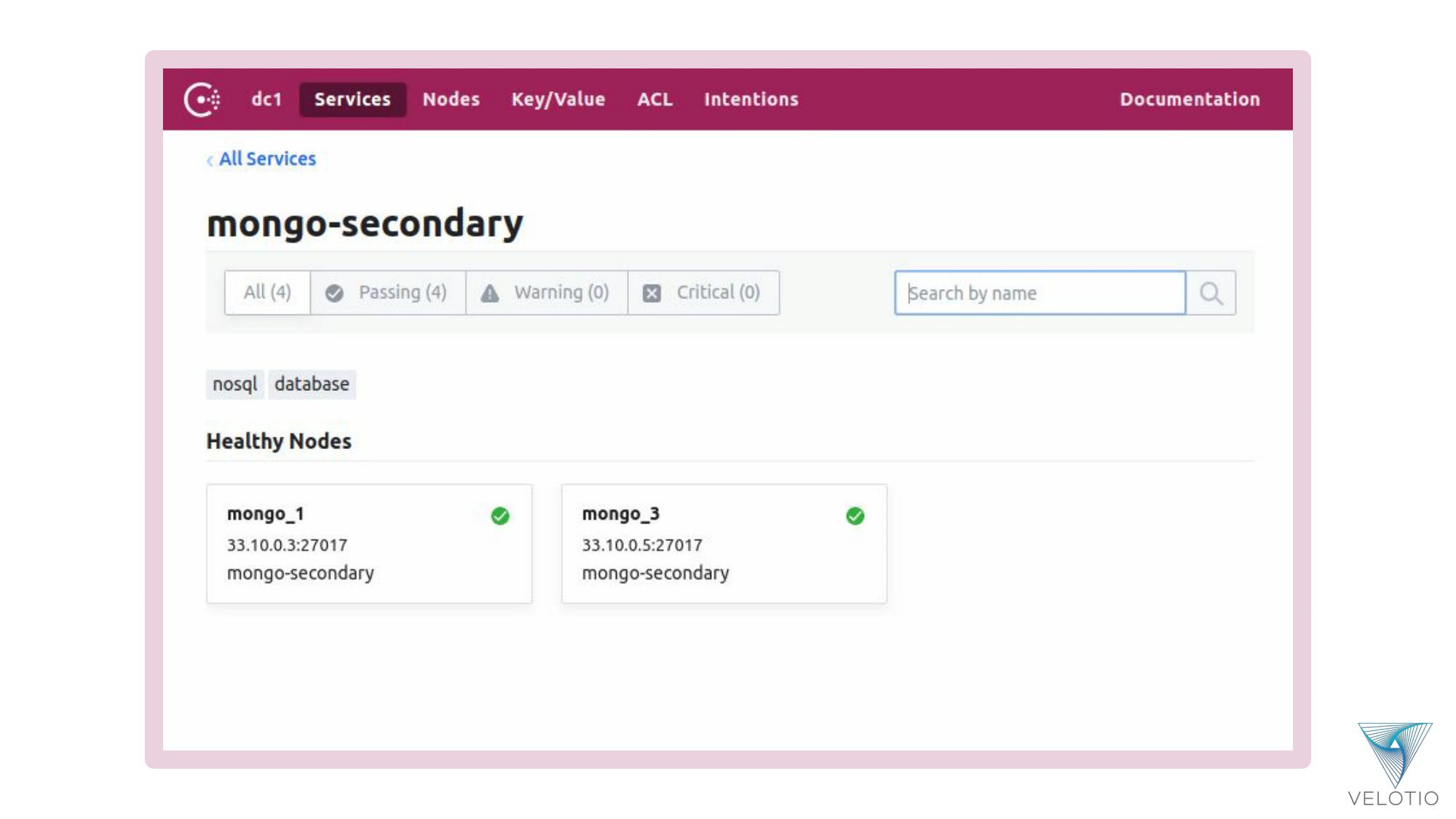 MongoDB Replica Set Secondary services
