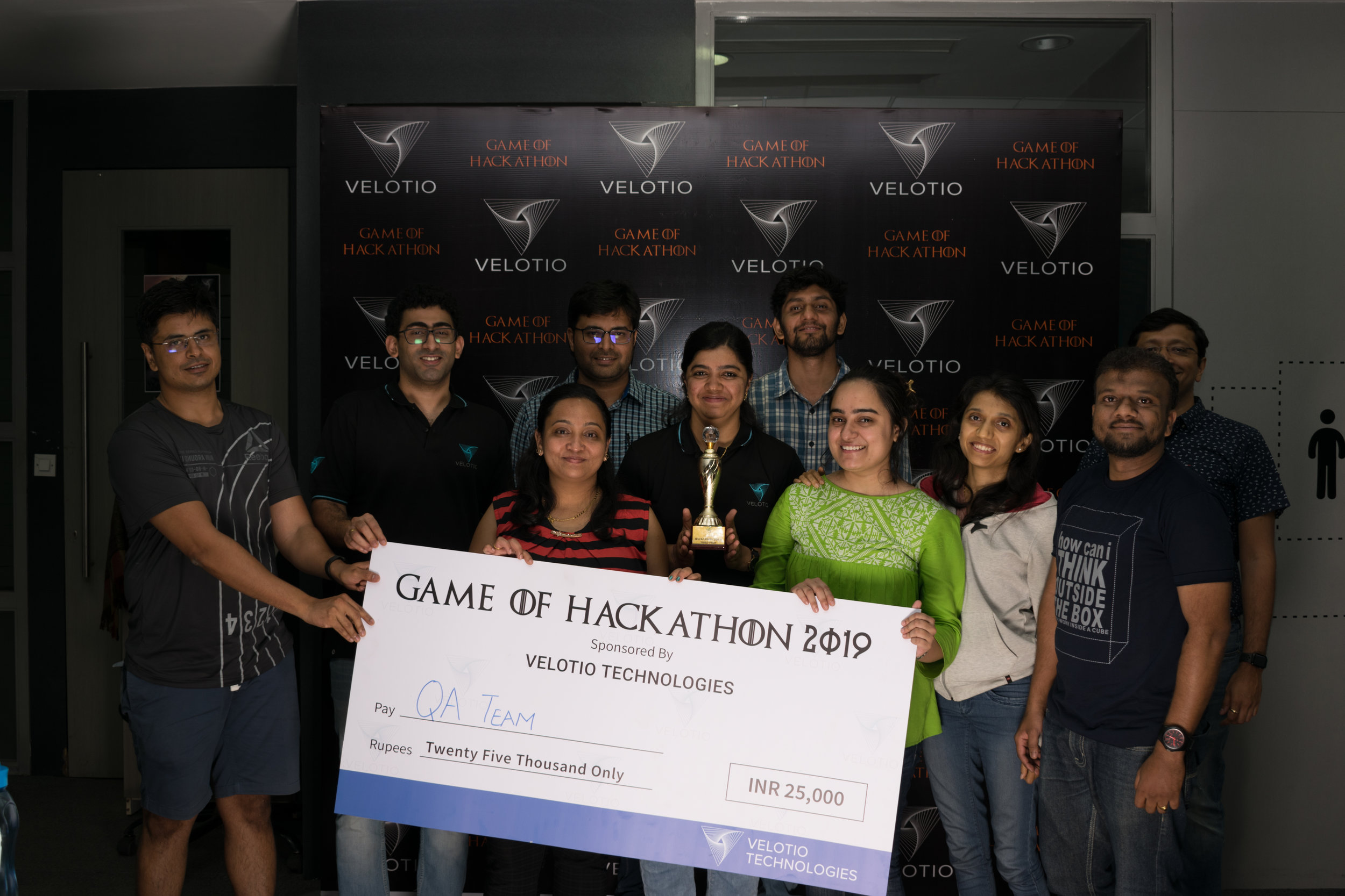 Velotio Hackathon third price