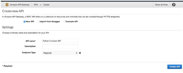 Creating API Gateway