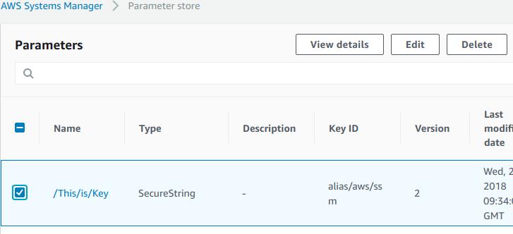Delete AWS Paramaters