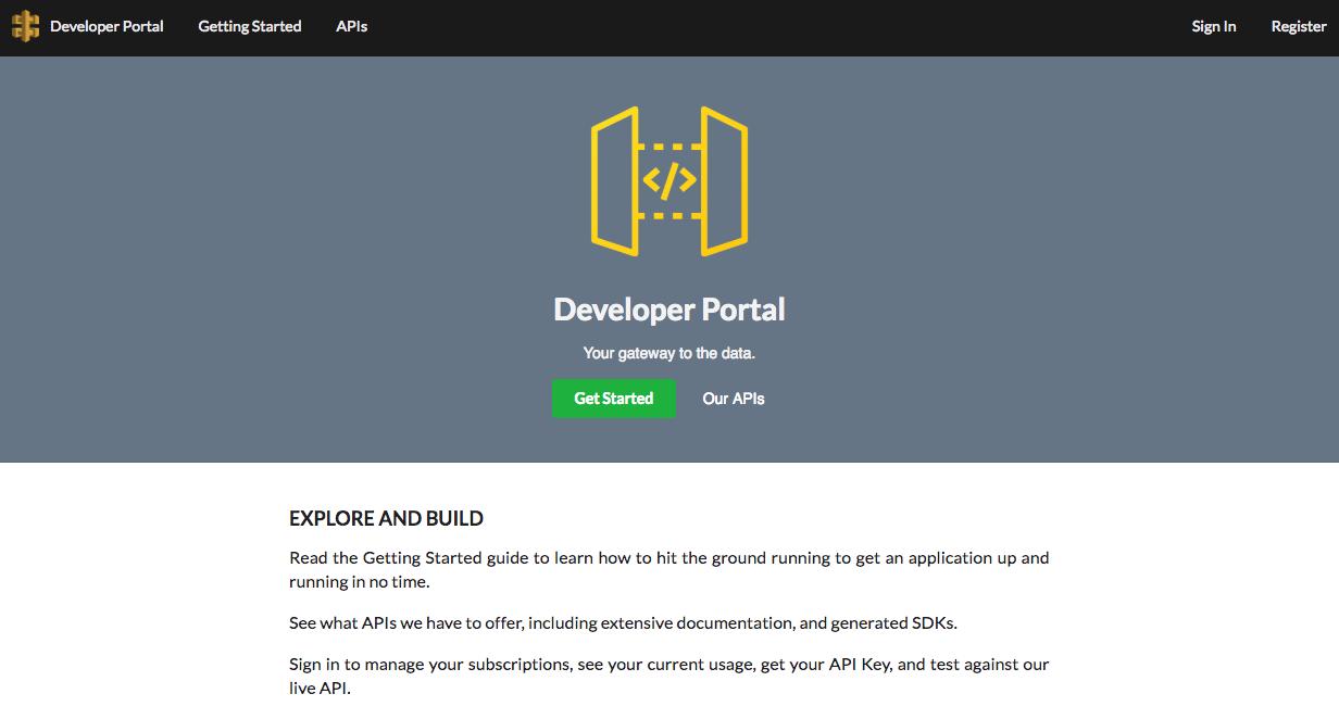 API Gateway Developer Portal