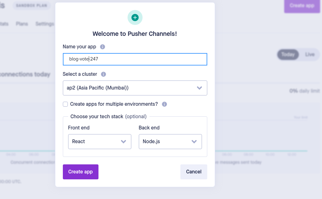 Pusher config